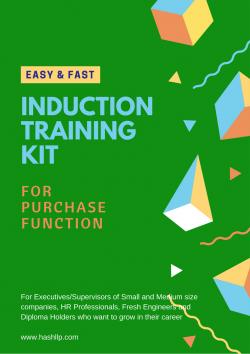 Induction Training-Purchase